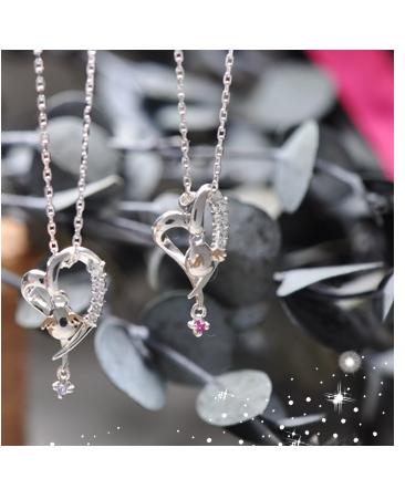 ネックレス クリスマス限定 ハート 天使の ダイヤモンド