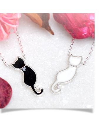 猫 ネコ ネックレス