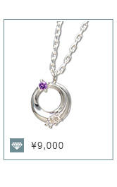 三日月 ダイヤモンド ネックレス mip1182web